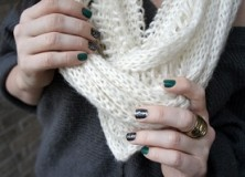 infinity scarf + oversized sweater.
