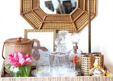 bar cart inspiration.