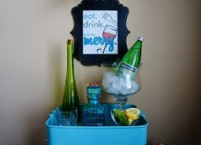 the bar cart.