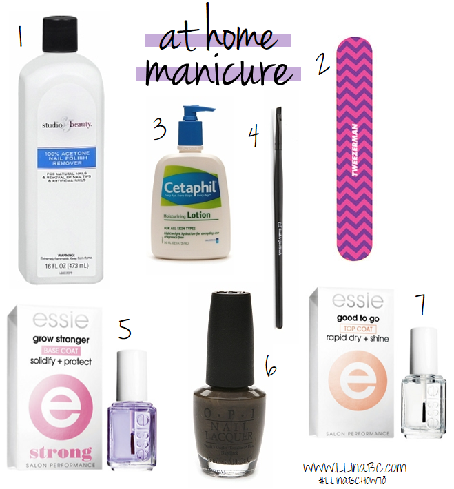 at home manicure // LLinaBC.com