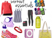 workout essentials // LLinaBC.com