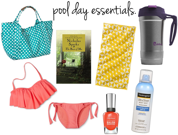 life // pool day essentials c/o LLinaBC.com