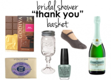 wedding // bridal shower basket.