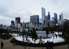 winter in chicago.